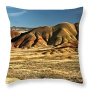 Central Oregon Painted Hills Throw Pillow