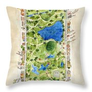 Central Park And All That Surrounds It Throw Pillow