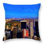 Central Park And New York City In Autumn Throw Pillow