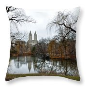 Central Park And San Remo Building In The Background Throw Pillow