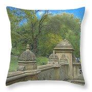 Central Park Bathsheba Terrace 2 Throw Pillow