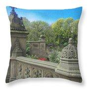 Central Park Bathsheba Terrace 3 Throw Pillow