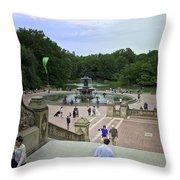 Central Park - Bethesda Fountain Throw Pillow