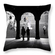 Central Park Bride II Throw Pillow