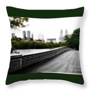 Central Park Bridge 2 Throw Pillow