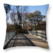 Central Park Bridge Shadows Throw Pillow