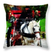 Central Park Carriage Throw Pillow