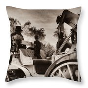Central Park Carriage Ride - Antique Appeal Throw Pillow