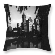 Central Park Evening View Throw Pillow