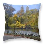 Central Park In Autumn 2 Throw Pillow