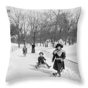 Central Park In New York Throw Pillow