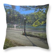 Central Park In September 2 Throw Pillow