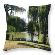 Central Park In The Summer Throw Pillow
