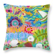 Central Park Lower Left Side Throw Pillow