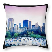New York In Motion Throw Pillow