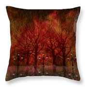 Central Park Ny - Featured Artwork Throw Pillow