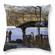 Central Park Photo Op 2 - Nyc Throw Pillow by Madeline Ellis