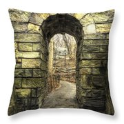 Central Park Rainy Day Number Nine Throw Pillow
