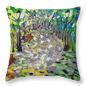 Central Park Serenity Throw Pillow