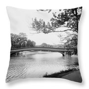 Central Park The Lake Throw Pillow