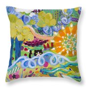 Central Park Upper Left Side Throw Pillow