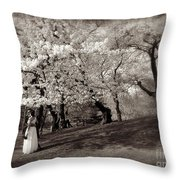Central Park Wedding - Antique Appeal Throw Pillow