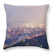 Central Park West Pano Throw Pillow