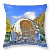 Central Park's Naumburg Bandshell Throw Pillow