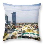 Central Phnom Penh In Cambodia Throw Pillow