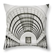 Central Post Office Saigon Throw Pillow