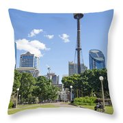 Central Sydney Park In Australia Throw Pillow