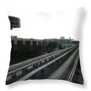 Central Train Station - Des Moines Throw Pillow