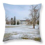 Centre Family Dwelling - Shaker Village Throw Pillow