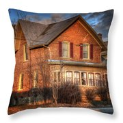 Centre St South Of The River Throw Pillow