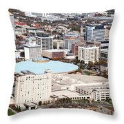 Century II Convention Hall And Downtown Wichita Throw Pillow
