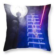 Century Neon Throw Pillow
