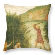 Cephalus Punished At The Hunt Throw Pillow