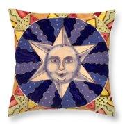 Ceramic Star Throw Pillow by Anna Skaradzinska