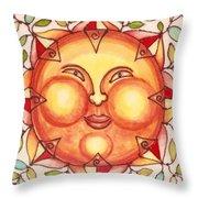 Ceramic Sun 2 Throw Pillow by Anna Skaradzinska
