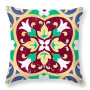 Ceramic Tile Closeup Throw Pillow