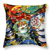 Ceramics Of Vietri Sul Mare  Throw Pillow