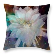 Cereus Chaos Throw Pillow by Tanya Hamell