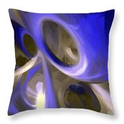 Cerulean Abstract Throw Pillow