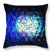 Cerulean Pixels Throw Pillow