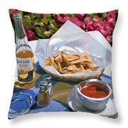 Cervezas Y Nachos - Coronas With Nachos Throw Pillow