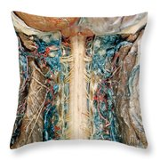 Cervical Spinal Cord, Posterior View Throw Pillow