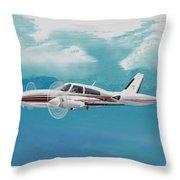 Cessna 310 Twin Engine Throw Pillow