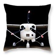 Cessna Dark Hanger Throw Pillow