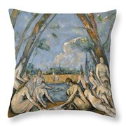 Cezanne Baigneuses 1905 Throw Pillow