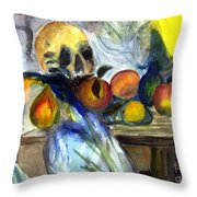 Cezanne Still Life With Skull Throw Pillow
